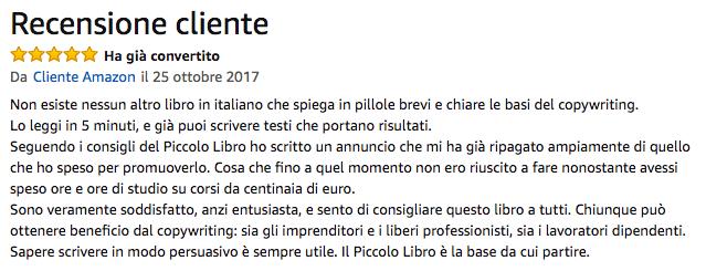 scrittura persuasiva copywriting libro recensione testimonianza opinione migliori copywriter italiani