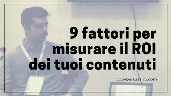 roi content marketing copy persuasivo
