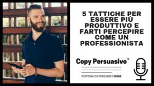 copy persuasivo podcast massima produttività