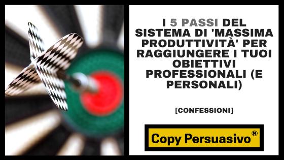copy persuasivo podcast - massima produttività - obiettivi