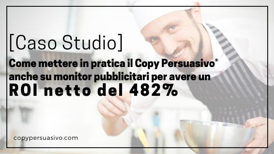 copy persuasivo-caso studio-risultati copy persuasivo-copy persuasivo ROI-ristorante