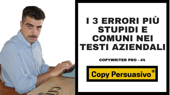 i 3 errori più stupidi e comuni nei testi aziendali